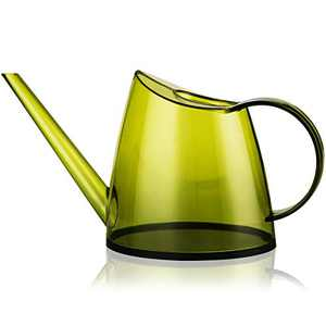 Fusolo Watering can for Indoor Plants 1.4L 1/3 Gallon with Long Spout Translucent Small Watering Pot (1.4 L, Lemon Green)