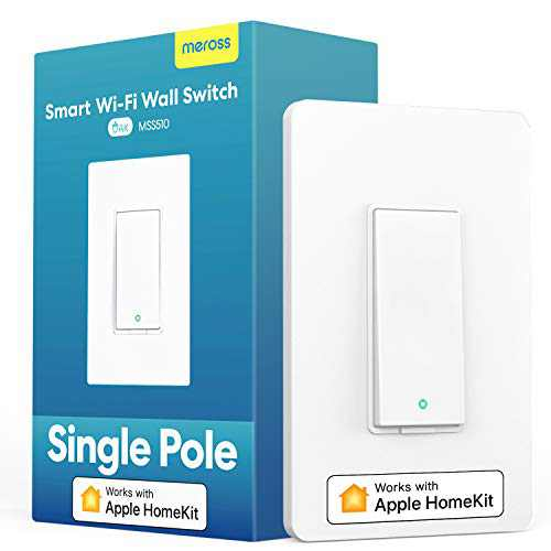 meross Smart Light Switch Supports Apple Homekit, Siri, Alexa, Google Assistant & SmartThings, 2.4Ghz WiFi Light Switch, Neutral Wire Required, Single Pole, Remote Control Schedule,1 Pack