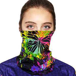 Fstrend Fashion Face Mask Outdoor Running Bandana Neck Gaiter Balaclava Dust Scarf Tube Elastic Headwear Sun Sport Windproof Headband Magic Headbands for Men and Women Purple