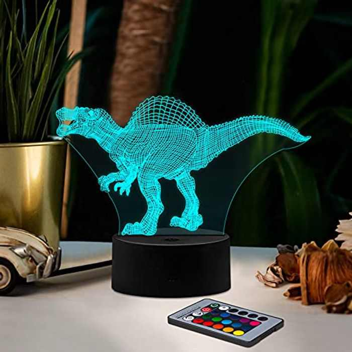 3D Dinosaur Night Light, Ltteaoy Dinosaur Lamp 16 Colors with Remote Control,3D Lamp Dinosaur Light for Kids,Best Christmas and Birthday Gifts for Boys Girls(Dinosaur Toys Sty1)