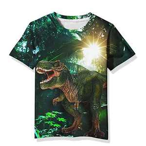 Linnhoy Boys Girls 3D Graphic Realistic Print T-Shirt Kids Cool Casual Shirt Tee Tops 8-10 Years