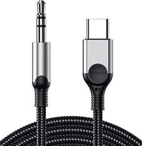 USB C to 3.5mm Audio Aux Jack Cable, ZOOAUX Type C Adapter to 3.5mm Headphone Car Stereo Aux Cord for iPad Pro 2018 Google Pixel 2 3 4XL Moto Z, Oneplus, Samsung Galaxy S20 Ultra Note20 10+ and More