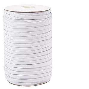 【200 Yards】 Flat Elastic Band, 1/4 inch-6mm Elastic String Cord Elastic Bands Rope, Braided Stretch Strap Cord Roll for Sewing and Crafting, Braided Elastic Cord Elastic String, Heflashor Elastic
