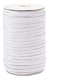 【160 Yards】 Flat Elastic Band, 1/4 inch-6mm Elastic String Cord Elastic Bands Rope, Braided Stretch Strap Cord Roll for Sewing and Crafting, Braided Elastic Cord Elastic String, Heflashor Elastic