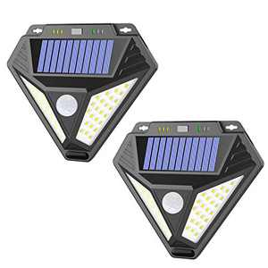 Solar Lights Outdoor,AOBISI 48 LEDs Solar Motion Sensor Lights Outdoor Upgraded with Anti-Theft Function,3 Optional IP65 Waterproof Security Lights,Easy to Install Solar Lights for Front Door (4pack)
