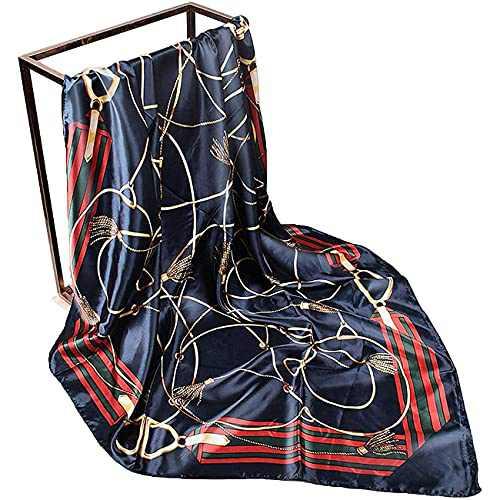 Loxoto Silk Like Scarf, Fashion Satin Scarf Square Head Neck Scarf Hair Scarf for Night Sleeping