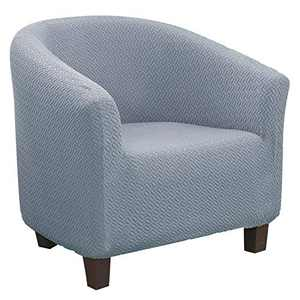 Didihou Club Chair Slipcover, Stretch Armchair Covers 1-Piece Tub Chair Covers Sofa Cover Couch Furniture Protector Cover Jacquard Spandex Couch Covers for Bar Counter Living Room