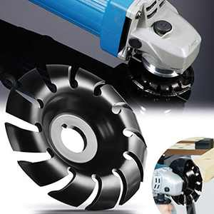 Angle Grinder 90 mm Wood Shaping Disc Wood Carving Disc Wood Polishing Disc 16 mm Bore 12 Teeth Multi-functional Cutting Wheel for 100/115 Angle Grinder Woodworking Carving and Shaping Tool