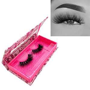 KallyHair Miami Lash100% Siberian Real Mink Lashes   3D Effect Natural Length Cotton Band Mink Eyelashes   Money Case Real Mink Lashes for Women