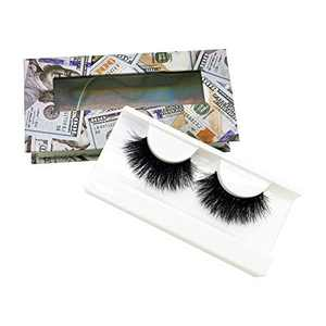 KallyHair Doll Eye Real Mink Lashes Natural Length Reusable & Handmade Non-Irritating Fluffy Looking 15mm Mink Eyelashes with Money Case