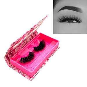 KallyHair Doll Eyes Real Mink Lashes Thick Bushy 3D Mink Eyelashes Flare Eye Lash with Cute Money Case