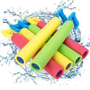 6 Pack Foam Water Guns for Kids Water Blaster Set for Summer Swimming Party Pool Noodles Toy with Plastic Handle Super Soaker Outdoor Toys for Kids Boys Girls Adults