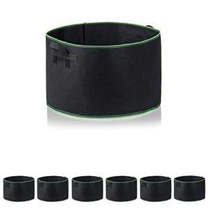 Garden4Ever Grow Bags 6-Pack 15 Gallon Aeration Fabric Pots Container with Handles (6-Pack 15 Gallon, Black/Green 6-Pack)