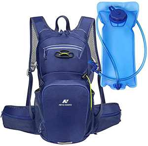 N NEVO RHINO 10L Insulated Hydration Backpack Pack with 2/3L Water Bladder, Camelback Water Backpack for Hiking/Running/Cycling/Camping