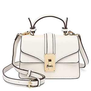 Scarleton Mini Top Handle Satchel Handbag for Women, Purses for Women, Vegan Leather, Crossbody Bag for Women, Shoulder Purse, H207702A - White