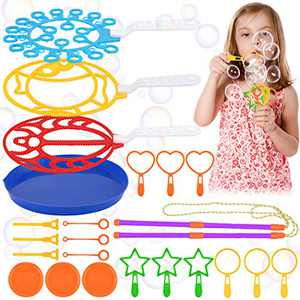 Coxeer Big Bubble Wands Set, 23PCS Colorful Bubble Wand Toy Set Bubbles Maker Assorted Funny Bubbles Maker for Kids Summer Outdoor Playtime Birthday Wedding Party Favors Games