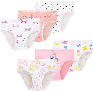 Little Girls Underwear Kids Children Cotton Panties Breathable Comfort Briefs(Pack of 6)