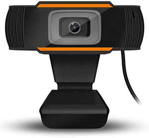 1080P HD Webcam with Dual Microphones - HD Auto Focus Camera Widescreen USB Computer Camera for PC Mac Laptop Desktop Video Calling Conferencing Gaming Conferencing Orange