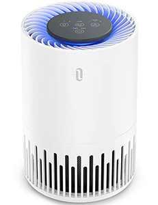 TaoTronics HEPA Air Purifier for Home, Allergens Smoke Pollen Pets Hair, Desktop Air Cleaner with True HEPA Filter, Sleep Mode, Night Light, Odors Dust, Bedroom Office