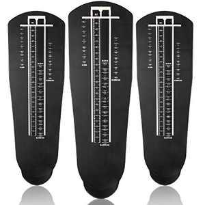 3 Pieces Foot Measuring Device Feet Length Measuring Ruler Shoe Sizer for Infants Kids Adults Men Women, US Standard Shoe Size (Black)