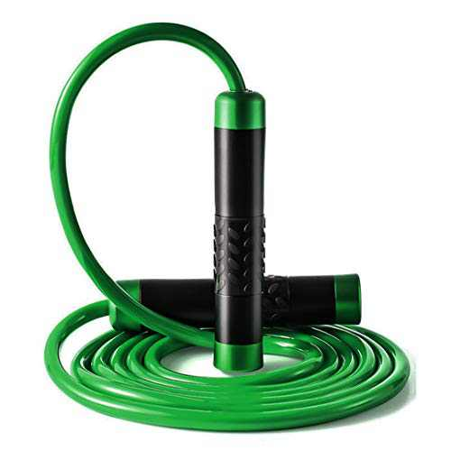LAIWOO Jump Rope,Weighted Jump Rope Workout with Adjustable Bold Bearing Tangle-Free Ropes for Women &Men, Exercise, Gym & Home Fitness (Green)