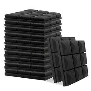 """Acoustic Foam Panels 12 Pack Set 1"""" X 12"""" X 12"""" Studio Wedge Tiles Sound Absorber Soundproofing Wall Foam Acoustic Panels Control Sound Dampening Foam"""