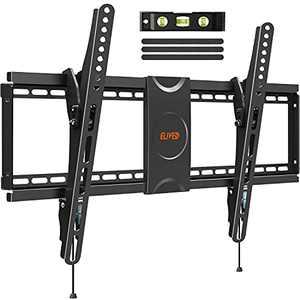 "Tilting TV Wall Mount Low Profile Universal TV Mount Bracket for 37-70 Inch LED LCD OLED Flat Screen TVs, Large Tilt TV Mount fits 16"", 18"", 24"" Studs, Max VESA 600x400mm, Holds up to 110 lbs. ELIVED"