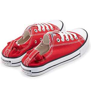 Women Low Tops Shoes Sneakers Slip On Shoreline Classic Casual Comfortable Flats Red