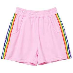 Mirawise Girls Athletic Shorts Play Soccer Sports Basketball Shorts 4-13Y Pink