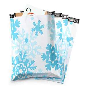 Poly Mailers, Mailing Envelopes, Peel & Seal, 10x13 inch, 30-Pack, Snowflake Shipping Bags for Clothing, 2.75 Mil Thickness Mailers, Shipping Envelopes with Self Adhesive Strip