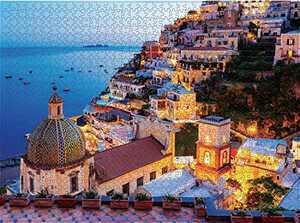 1000 Pieces Jigsaw Puzzles Adults Puzzle Dreamy Positano Game Assembling Puzzles Jigsaw Interesting Paper Puzzle Educational Learning Toys Antistress for Adults Teens Gift