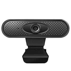 1080P HD Webcam with Dual Microphones Webcam for Gaming Conferencing, Laptop or Desktop Webcam, USB Computer Camera for Mac Xbox YouTube Skype OBS, Free-Driver Installation Fast Autofocus Black