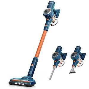 ORFELD Cordless Vacuum Cleaner, 24000Pa Powerful Suction Stick Vacuum 40 mins Runtime,3 Cleaning Mode, 5 in 1 Ultra-Quiet Handheld Vac Self-Standing for Hard Floor Car Pet Hair