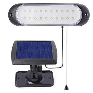 Kyson Solar Powered Shed Lights Rechargeable Wall Lamp with Pull Cord Switch for Garage Corridor Garden Yard Courtyard