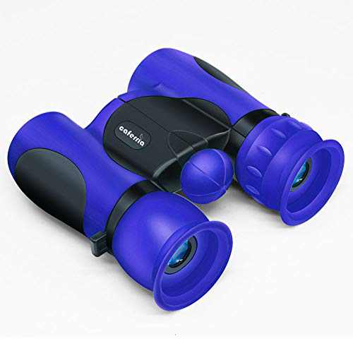Caferria Binoculars for Kids Best Gift Toy 8x21 High Resolution Real Optics Compact Kids Binoculars Shockproof Mini Telescope for 3-12 Years Boys Girls Children Bird Watching Outdoor Games (Blue)