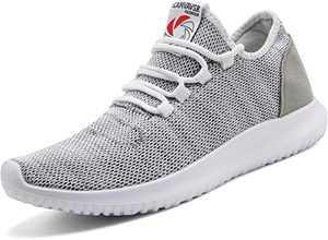 CAMVAVSR Womens Breathable Nursing Shoes Cute and Comfy Soft Walking Tennis Cheap Laces Tie Workout Shoes Gray Men Size 9.5 Women Size 10.5