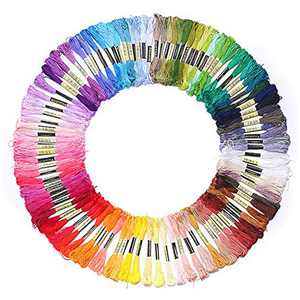 100 Embroidery Floss Embroidery Thread Color Palettes Friendship Bracelet String Coded as Embroidery Thread Numbers Cross Stitch Thread or String Craft - Best Bracelets String Set (100 Mix Color)