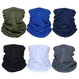 easbeauty 6pcs Breathable Sun UV Protection Face Mask, Dust Protection Neck Gaiter, Multi-Purpose Bandana Balaclava Cycling Scarf for Sports Outdoors