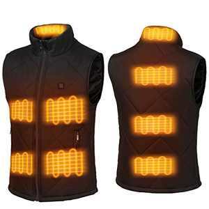 FERNIDA Electric Heated Vest USB Charging Body Warmer Thermal Heating Vest Jacket(Battery Not Included) (Black, XX-Large)