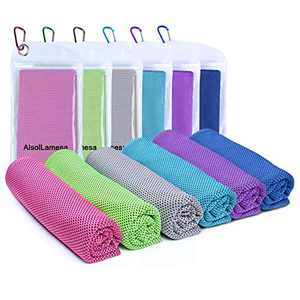 """6 Packs Cooling Towel (40""""x 12"""") Ice Sports Towel Cool Neck Towel Soft Breathable Chilly Towel Microfiber Towel for Gym Workout Fitness Yoga & Golf Camping & More Activities"""