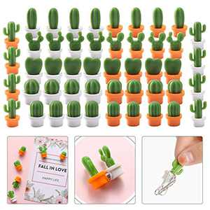 Magnets for Fridge, Fridge Magnet Decor, Cute Magnets for Holding Photos, Cactus Decorative Refrigerator Magnets for Filing Cabinet, Metal Shelf,Office Cube(6 Style,48 Pcs)