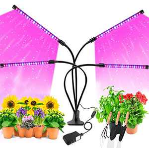 Grow Light,AOBISI 9 Dimmable Brightness Grow Light for Indoor Plants Full Spectrum Indoor Greenhouse,3 9 12 Timer Led Grow Light,ON/AUTO/Off Plant Light Grow Lights for Seed Starting(with Adapter)
