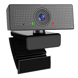 1080P Webcam with Microphone, ATOKIT USB Desktop Laptop Computer Web Camera with Auto Light Correction, Plug and Play, for Video Calling, Conferencing, 110-Degree Streaming Widescreen Webcam