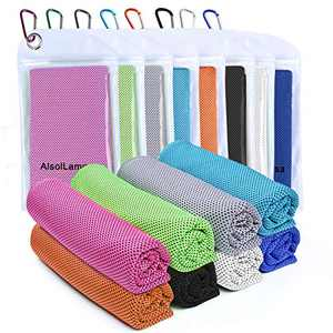 """8 Packs Cooling Towel (40""""x 12"""") Ice Sports Towel Cool Neck Towel Soft Breathable Chilly Towel Microfiber Towel for Gym Workout Fitness Yoga & Golf Camping & More Activities"""