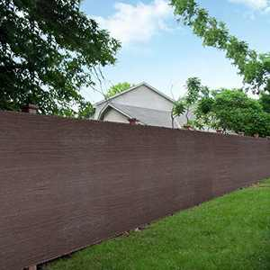 LOVE STORY 6'x50' Brown Shade Fabric Fence Privacy Screen Coverage for People,Pet,and Home Cover Outdoor or Exterior UV Protection