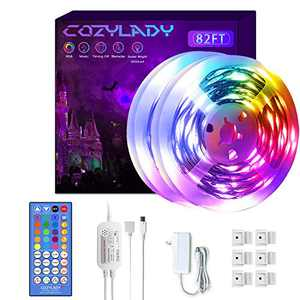 Cozylady LED Lights Strip 82FT - Ultra-Long Music LED Strip Lights for Bedroom,Room Decor, Bedroom Decor, Children's Room