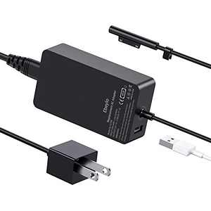 Surface Pro Charger, Ebeylo 44W 15V 2.58A Power Supply Adapter [Latest 2020] Replacement for Microsoft Surface Pro X/7/6/5/4/3,Surface Laptop 1/2/3, Surface Book 3/2/1 & Surface Go