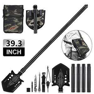 Weanas 39.3'' Military Folding Shovel Multitool Compact Backpacking Tactical Entrenching Tool for Hunting, Camping, Hiking, Fishing