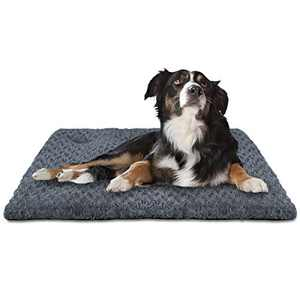 INVENHO Dog Bed Crate Pad Mat Soft Washable Anti-Slip Kennel Bed for Large Medium Small Dogs and Cats 29'' x 21''