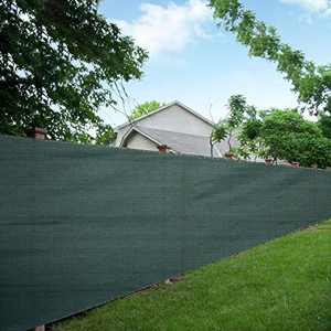 LOVE STORY 6'x50' Dark Green Shade Fabric Fence Privacy Screen Coverage for People,Pet,and Home Cover Outdoor or Exterior UV Protection